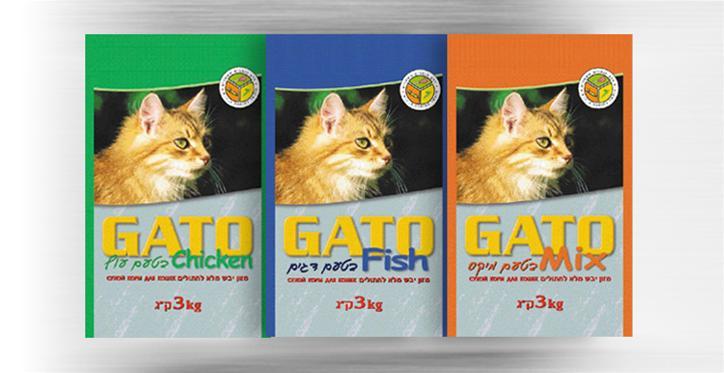 עיצוב סידרת שקי מזון לחתולים